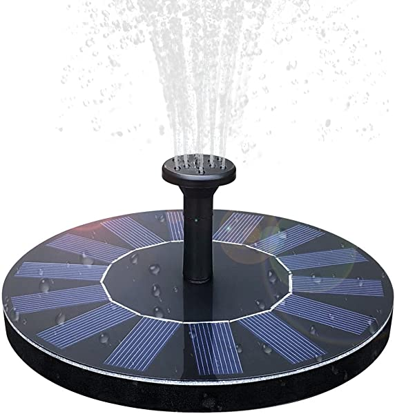 Solar Birdbath Fountain 1 4W Solar Panel Kit Water Pump Solar Powered Floating Fountain Kit Solar Water Fountain For Bird Bath Pond Pool And Garden Decoration