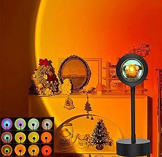 12 Colors Sunset Lights,Sunset Projection Lamp LED Night Light 48 Levels of Luminosity 360 Degree Rotation Atmosphere Ligh...