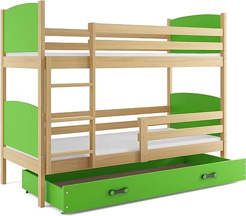 tienda en linea Interbeds Litera Litera Litera Infantil (para 2),Tami, 190X90, Color Pino, los Paneles (colchones,somieres y cajón Gratis) (verde)  precios bajos