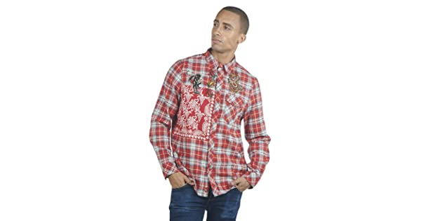 Regular Fit Pattern Long Sleeve Shirt SOIZZI Fashion Men Flannel Check Shirt Business Casual Design Button Down Shirts