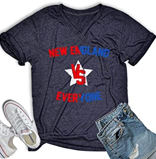 New England Shirt for Men Women New England VS Everyone Football T Shirt City Sports Fan Vintage V Neck Tee