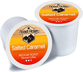 Roast Ridge Salted Caramel Blend, Single Serve Coffee Pods Compatible with Keurig K-Cup Brewers, 100 Count