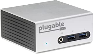 Plugable Universal USB 3.0 Docking Station with Dual Video Outputs and 4K Support for Windows 10, 8.1, 7 (HDMI & DVI/VGA, Gigabit Ethernet, Audio, 4 USB 3.0 Ports, VESA Mount Aluminum Mini)