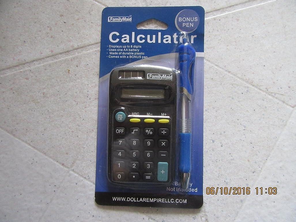 競うグレートオーク土器基本電卓8桁+ Bonusペン