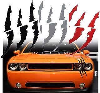 SAPU 1PCS Silver Die-Cut Monster Claws Scratch Headlight Decal Vinyl Sticker Halloween-Style Car stickers Halloween Décor ...