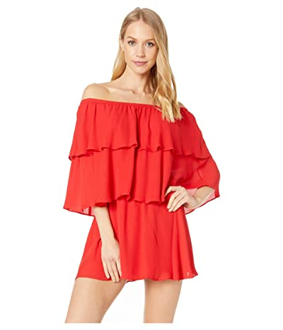 Show Me Your Mumu Triple Decker Romper (Bonfire) Women