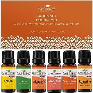 Plant Therapy Essential Oils Fruits Set - Grapefruit, Tangerine, Lemon, Mandarin, Lime, Orange Sweet 100% Pure, Undiluted,...