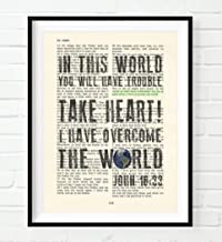 but take heart i have overcome the world