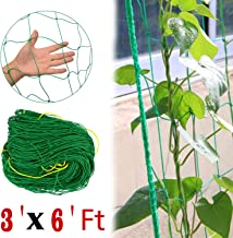 COMPATH Plant Trellis Netting Plant Support Vine Net Climbing Garden Trellis Net Garden Vine Plant Growing Flexible String Net (3' x 6'Ft,4