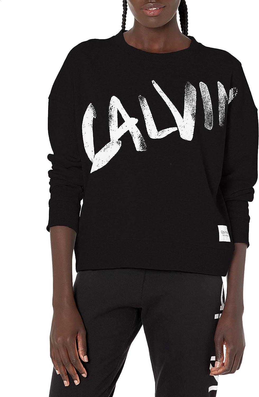 Calvin Klein Performance Cheap mail order sales Women's OFFer Sweatshirt Logo Terry French