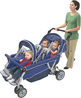 Children's Factory Surestop Folding Commercial Bye-Bye Stroller, 6 Passenger