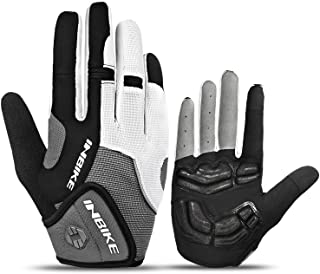 INBIKE 5mm Gel Padded Mens Cycling Gloves Breathable & Wear Resistant