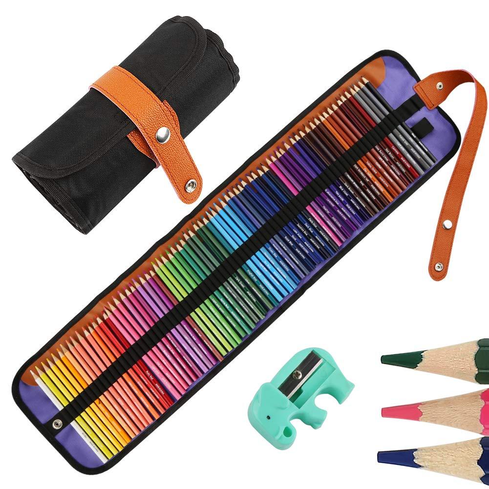 Nakeey Set de arte de lápices de dibujo para pintura y bocetos de mezcla de colores profesionales,lápices de colores de madera a base de cera suave para libros para colorear Multicolor: Amazon.es: