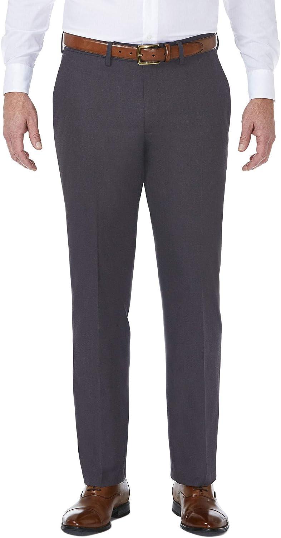 Haggar Men's Performance Comfort Casual Pant in Heather Grey, Size 38X32