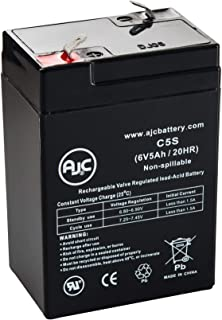 UPG SEL CP0660 6V 5Ah Sealed Lead Acid Battery - This is an AJC Brand Replacement