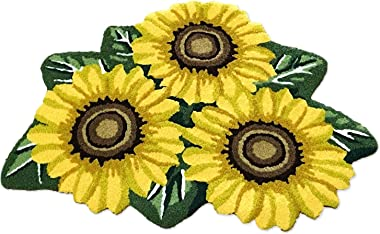 "Hughapy 3 Sunflower Design Bedroom Mat Antiskid Carpet/Area Rug,31.5""x20"" 31.5""x20"",1 Piece #003"
