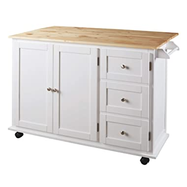 Signature Design by Ashley Withurst Kitchen Cart, White/Light Brown