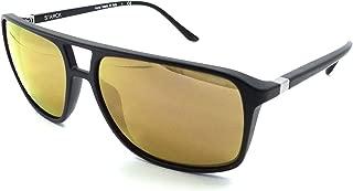 Starck Mikli Sunglasses SH5015 00012O 58x15 Matte Black - Gold Mirror Polarized