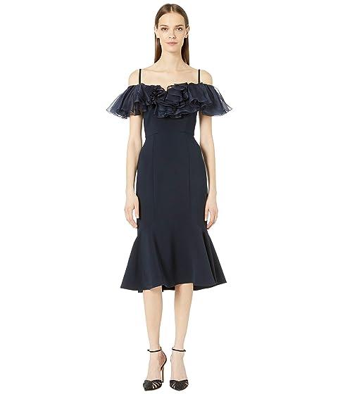 Marchesa Off Shoulder Cocktail Dress