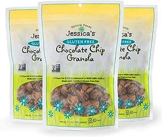 Jessica's Natural Foods Jessica's Natural Foods, Gluten-Free Chocolate Chip Granola (PACK of 3)