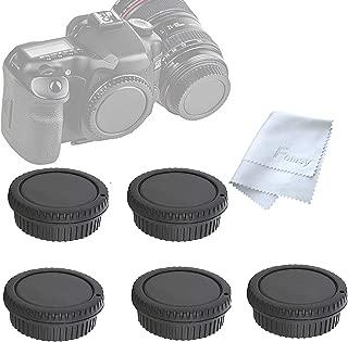 ( 5 Packs) Fotasy Rear Lens Cover Camera Body Cap for Canon EOS DSLR Camera Lenses, Canon EF/ Efs Lens Rear Cap Body Cap