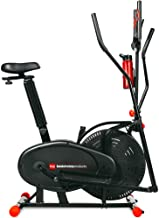 Best Choice Products 2-in-1 Elliptical Trainer Exercise Bike, Home Fitness Machine w/LCD Screen, Adjustable Seat, Tension ...