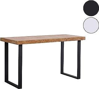 Adec - Natural, Mesa de Estudio, Escritorio o despacho, Mesa de Oficina Color Roble Salvaje y Negro, Medidas: 120 x 60 x 73 cm de Alto