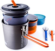 GSI Outdoors Halulite Microdualist Two-Person Cookset