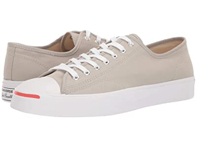 Converse Jack Purcell Twill Ox (Birch Bark/White/Habanero Red) Shoes