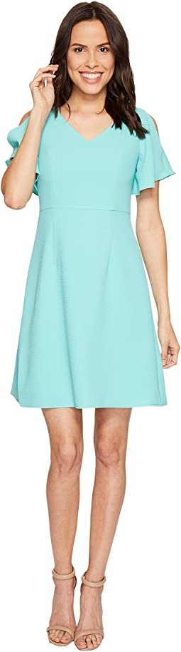 Cameron Textured Woven Fit and Flare Dress