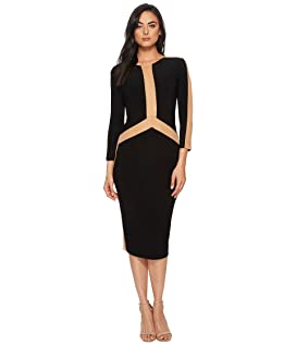 Spliced Long Sleeve Dress