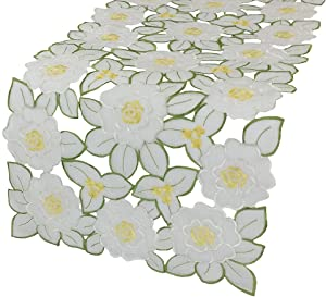 Xia Home Fashions Dainty Flowers Spring Table Runner, 15 by 54-Inch