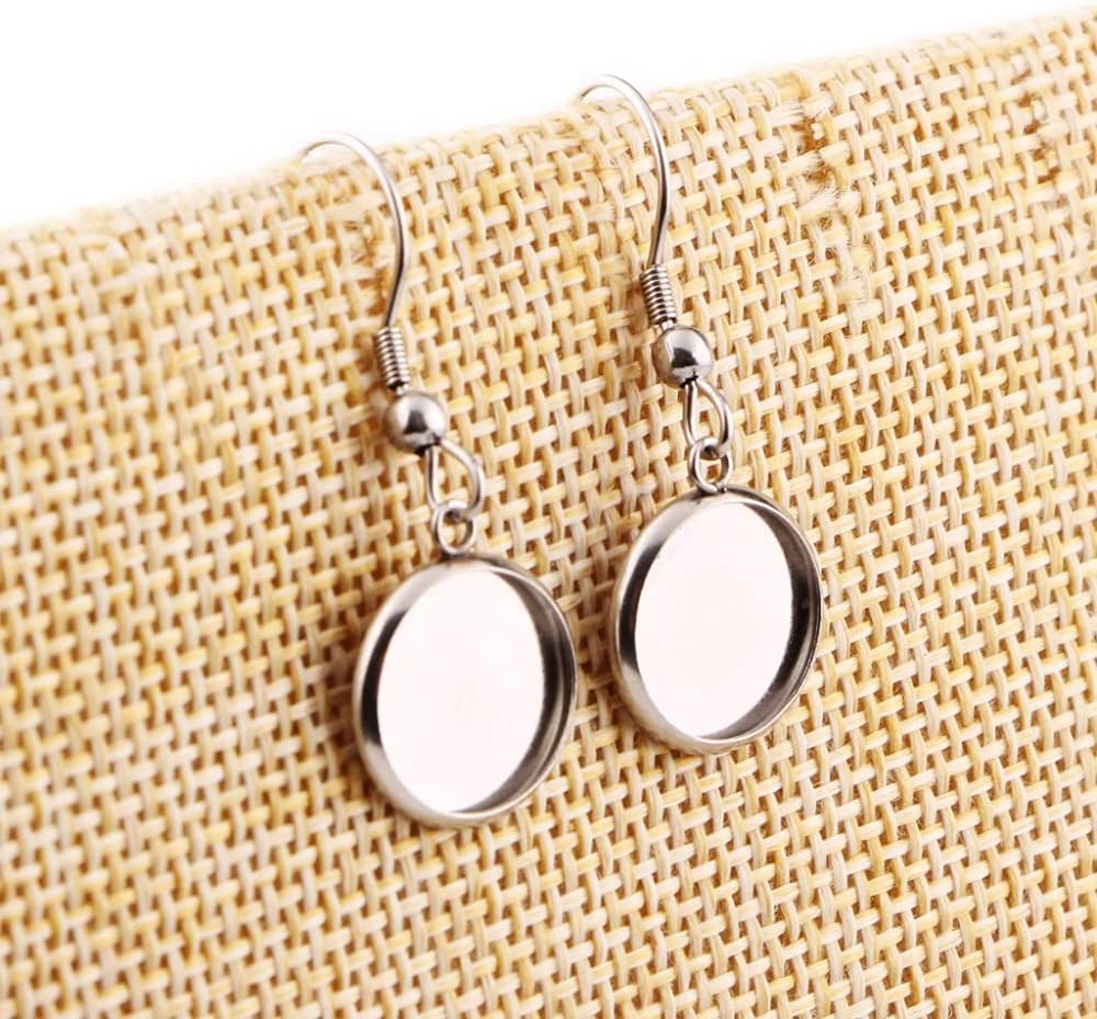 FC-60896 20pcs Stainless Steel cabochon 12mm Earring 14 Settings Max 47% OFF Translated