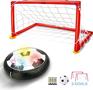Hover Soccer Ball Kids Toys - TFS LED Air Soccer Set with 2 Goals and Inflatable Ball, Indoor Outdoor Sports Ball Time Killer Game, Best Gift for Boys Girls Age 3 4 5 6+ Years Old, Batteries Included