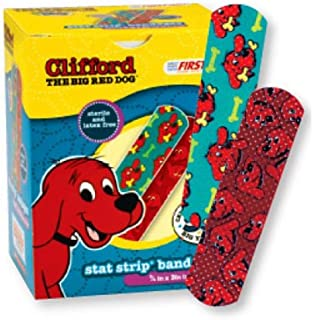 Clifford the Big Red Dog Stat Strip Bandages, 100 Count, 3/4