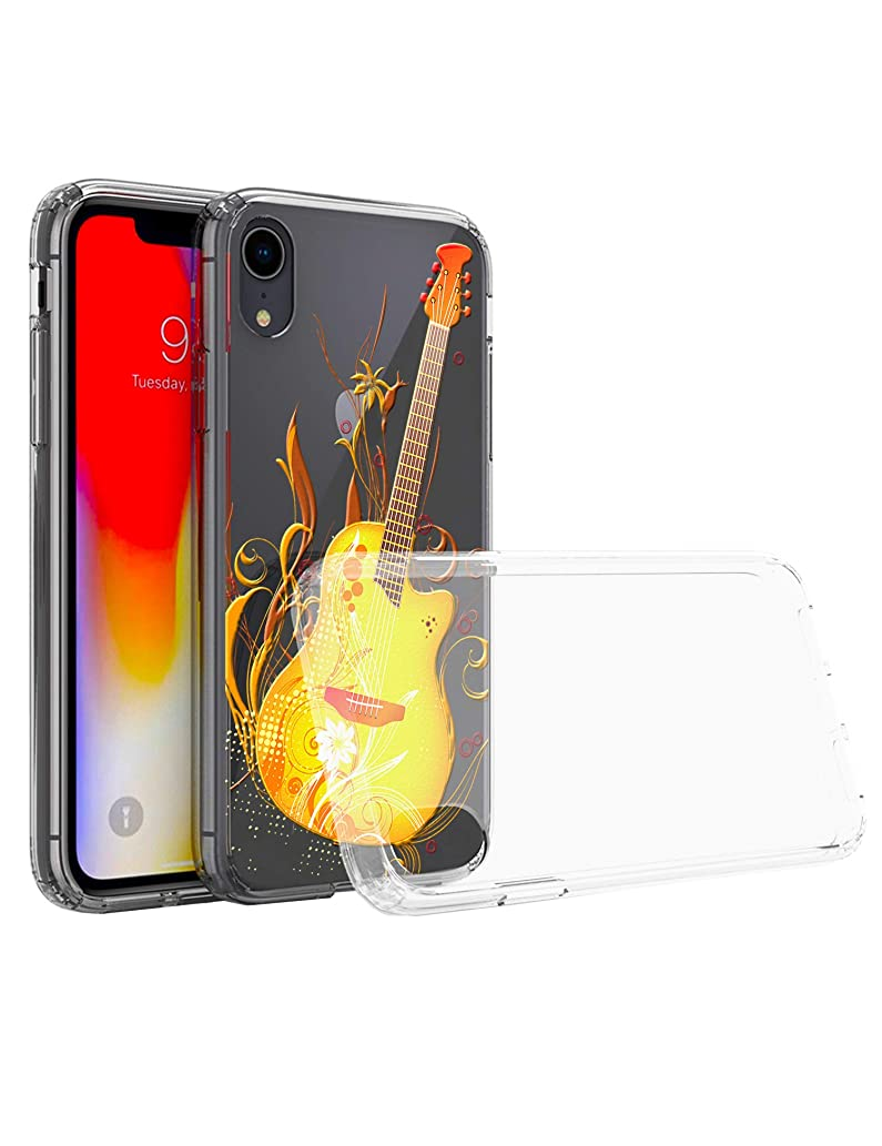 iPhone 7Plus(8Plus) case (Yellow Guitar) Thicken Drop-Proof Clear Crystal Soft Shell iPhone 5.5 inches