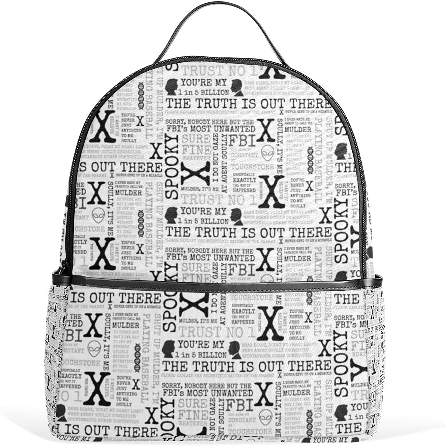 33d000a2ef608 Iwtb Spooky Agents X Files Inspired Art Backpack for Men Women Back ...