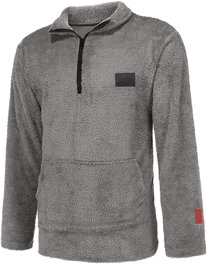 MODOQO Men's Zipper Collar Crew Neck Long Sleeve Warm Soft Pullover Sweater