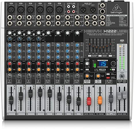 Behringer Xenyx X1222USB Mixer with USB and Effects