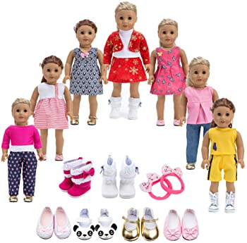 Hat 18 inch American Doll Baby Doll Toy Bathrobe Shoes 3Sets Outfits Clothes