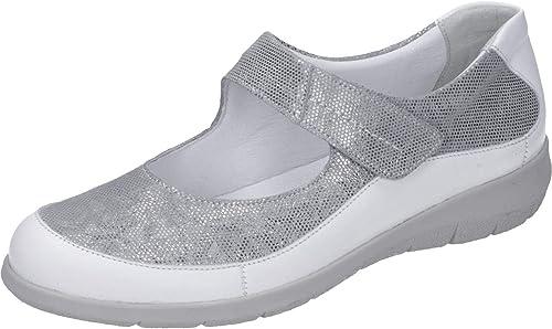 Comfortabel - Mocasines de Cuero para mujer Plateado plata