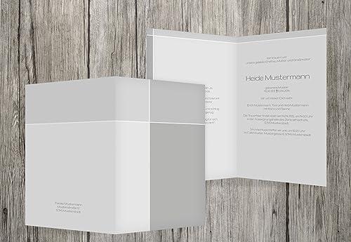 de moda Tarjeta Tarjeta Tarjeta de luto Discreet Cross, gris, 20  a la venta