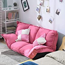 XZPENG Folding Multifunctional Sofa Bed, Bedroom, Lazy Lounge Chair (Color : Pink)