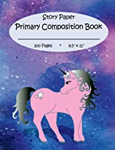 Primary Composition Book: Story Paper for K-2 (space on top for drawing & dotted midlines below, 8.5x11 inches, 100 pages,...