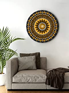 999Store small frames for wall decor room office Mandela Design Multi Color Round Shape wall art painting wall hanging (MD...