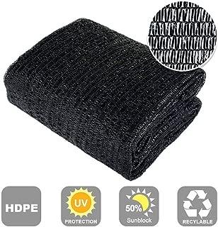 Shatex 90% Sun Shade Fabric for Pergola Cover Porch Vertical Screen, Black