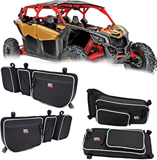 X3 Front and Rear Upper Door Bags for 2017 2018 2019 Can Am Maverick X3 Max XRS XDS Tubor R with Removable Knee Pad Water Repellent Finished.