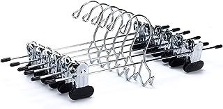 Quality Hangers 6 Heavy Duty Add-on Skirt/Slack Stackable Metal Hanger, Set of 6
