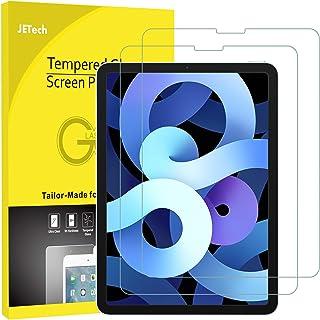واقي شاشة من قطعتين من JETech لجهاز iPad Air 4 10.9 بوصة، iPad Pro 11 بوصة جميع الموديلات، متوافق مع معرف الوجه، غشاء من ا...