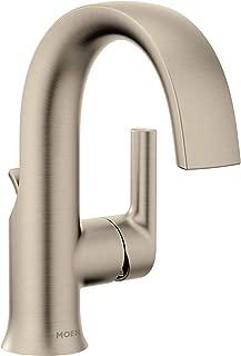 Moen S6910BN Doux One-Handle High Arc Laminar Stream Bathroom Faucet, Brushed Nickel